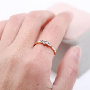 Simple Rhinestone Couple Ring -