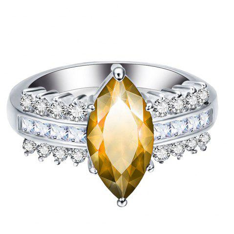 New Leaves Artificial Diamond Zircon Ring