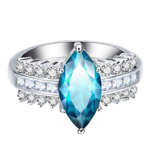 Store Leaves Artificial Diamond Zircon Ring