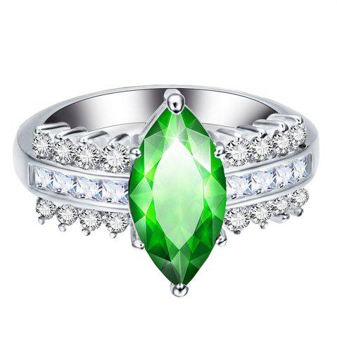 Discount Leaves Artificial Diamond Zircon Ring