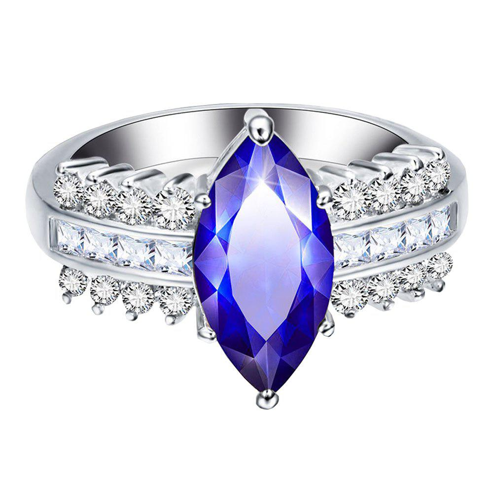 Fashion Leaves Artificial Diamond Zircon Ring