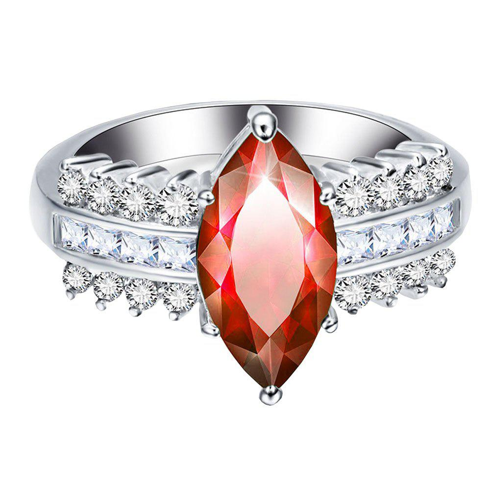 Online Leaves Artificial Diamond Zircon Ring