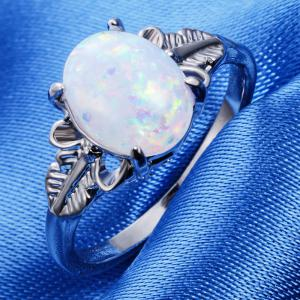 Feather Big Gem Couple Ring -