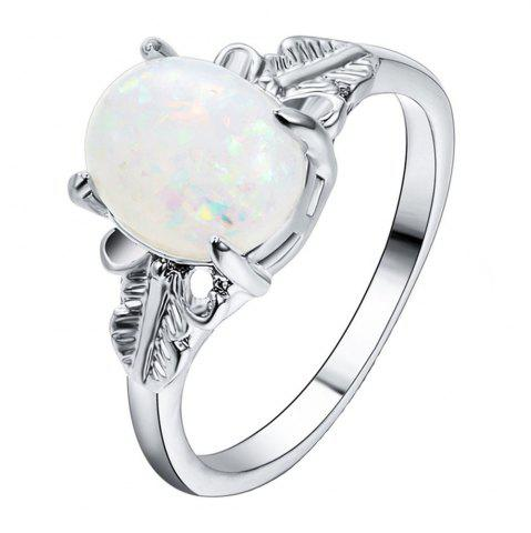 Fancy Feather Big Gem Couple Ring