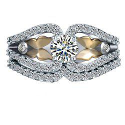 Mouth Butterfly Diamond Zircon Ring -