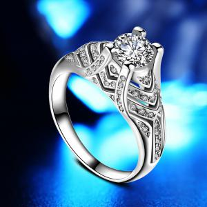 Artificial Micro Diamond Zircon Ring -