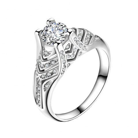 Bague Zircon Micro Diamant Artificielle