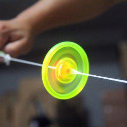 Pull Rope Rolling Flywheel Toy with Colorful LED Flashing Light for Kids -