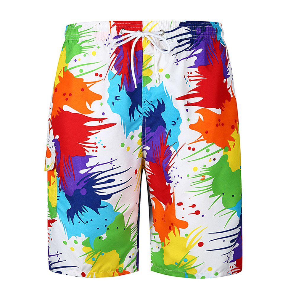 Sale 2018 New Men's Flower Pants Trend Beach Pants Fashion Casual Loose Shorts