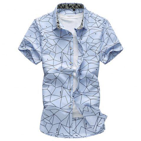 2018 Summer New Hommes Plus Size Fashion Flower Shirt