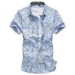 2018 Summer New Hommes Plus Size Fashion Flower Shirt -