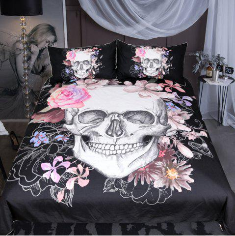 Affordable Sugar and Floral Bedding  Duvet Cover Set Digital Print 3pcs