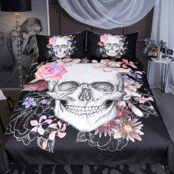 Sugar and Floral Bedding  Duvet Cover Set Digital Print 3pcs -