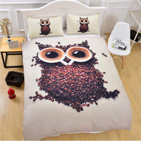 Fancy 3D Cute Owl Bedding  Duvet Cover Set Digital Print 3pcs