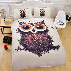 3D Cute Owl Bedding  Duvet Cover Set Digital Print 3pcs -