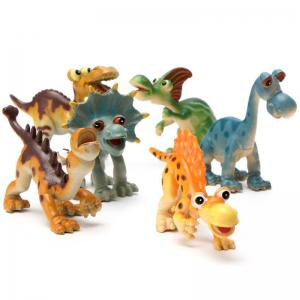 Hard Plastic Cartoon Toy Animal Dinosaur Figures Set Kid Children Gift 6PCS -
