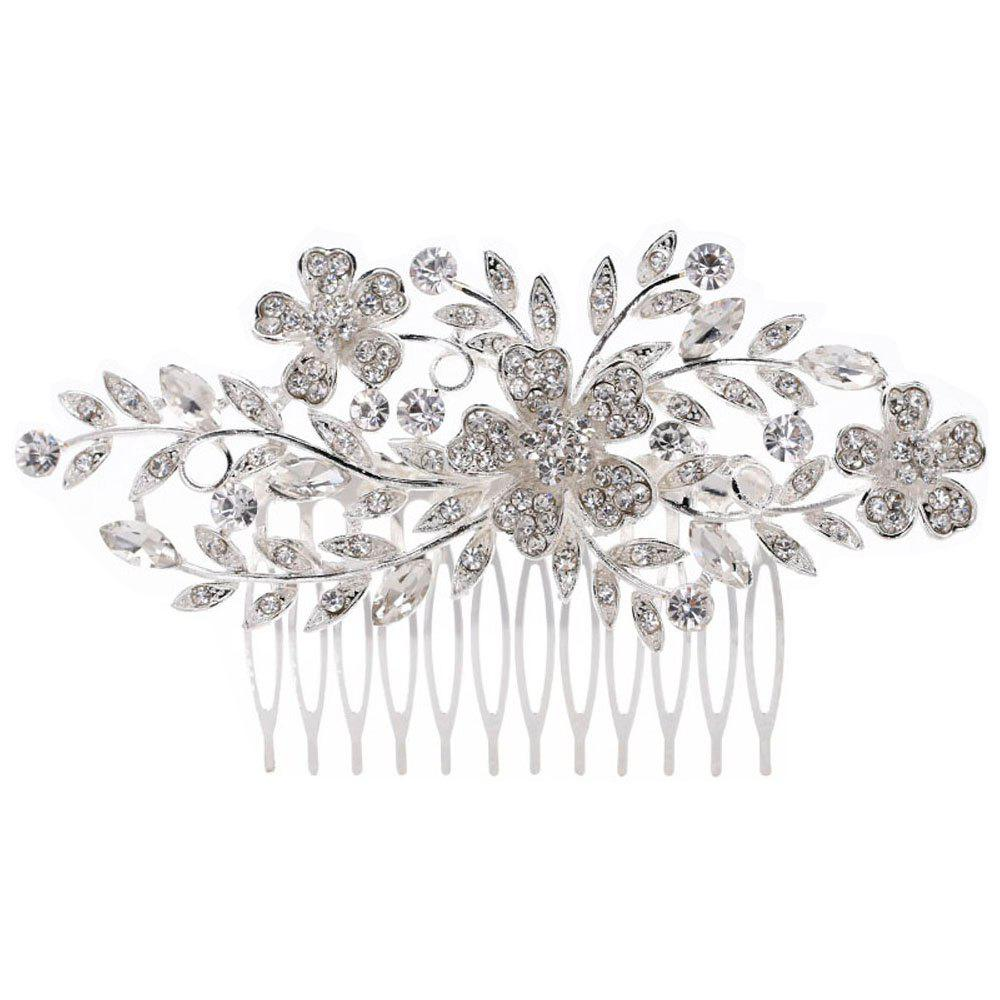 Fashion New-style 3 Flowers Leaves Comb