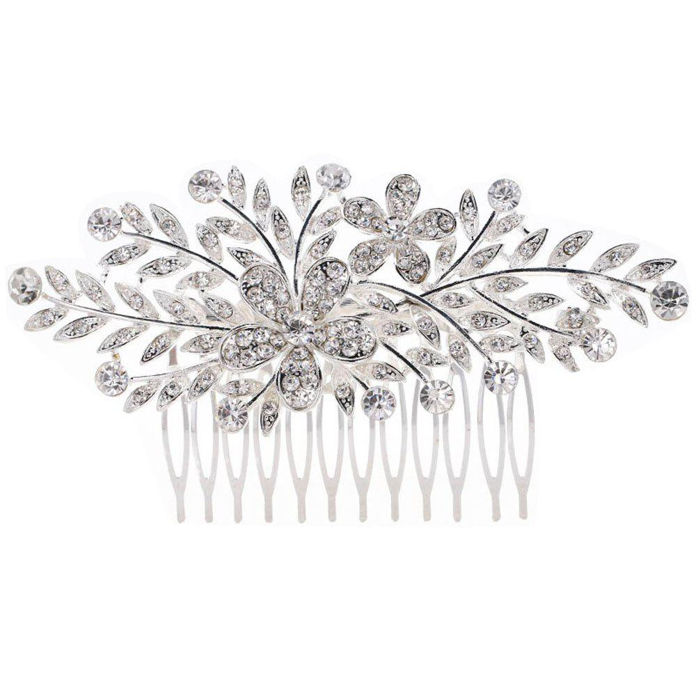 Cheap New-style 2 Flowers Leaves Comb
