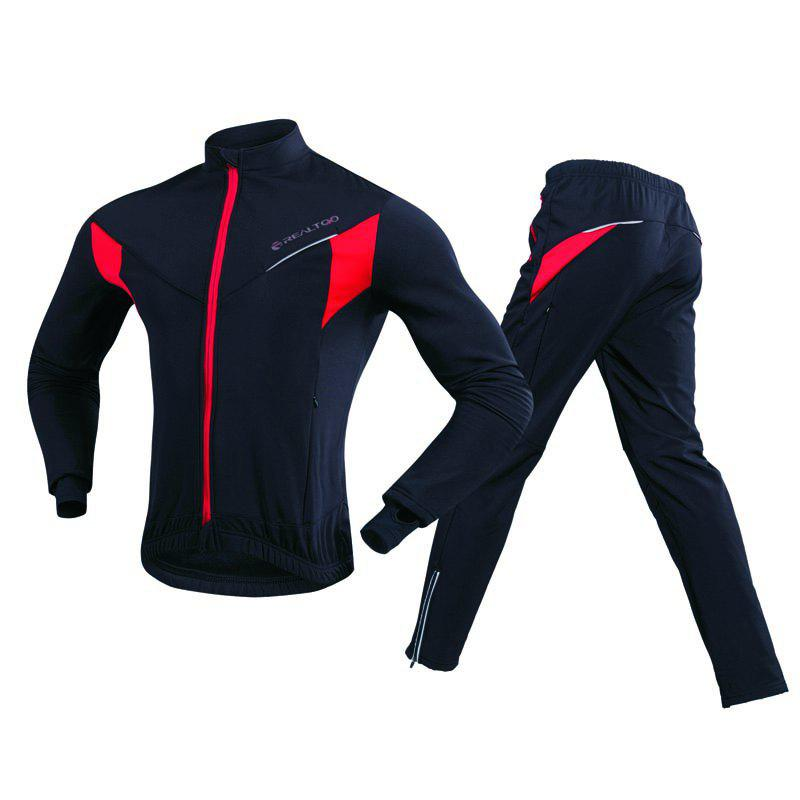 Latest REALTOO Men's Windproof Athletic Suits for Outdoor and Multi Sports Cycling Suit