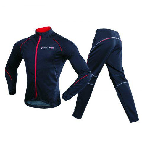 Cheap REALTOO Men's Windproof Athletic Suits for Outdoor and Multi Sports