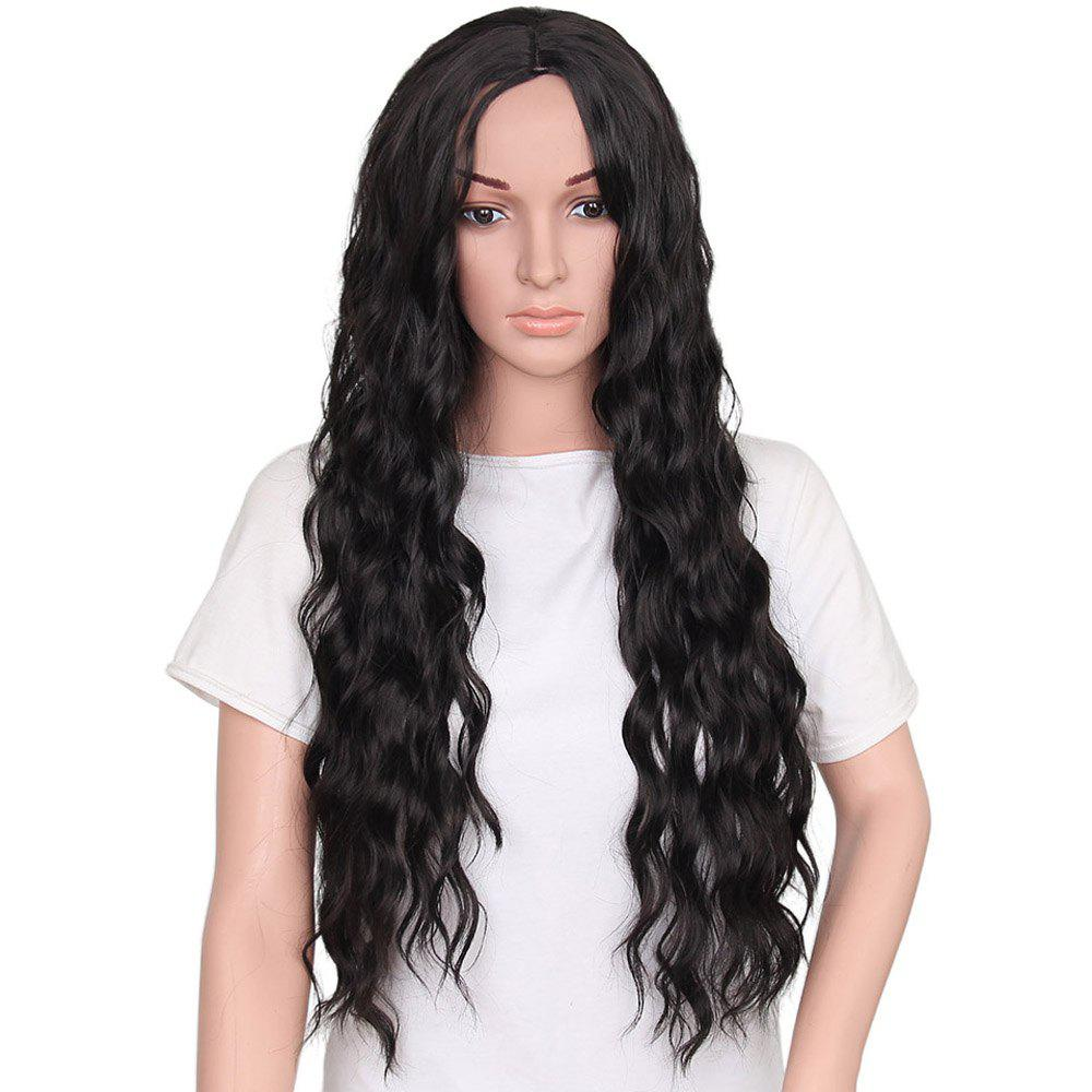 Online Fashion Long Loose Curly Synthetic Heat Resistant Wig For African American Women