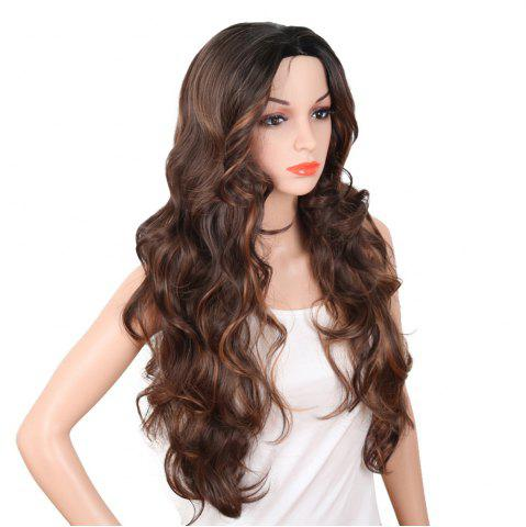 Cheap Red Super Long Body Wave Synthetic Hair Wigs Natural Hairline with Bang