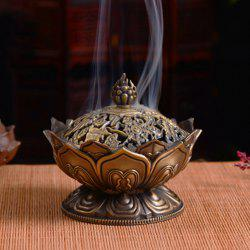 Lotus Antique Incense Burner Office Home Decoration -