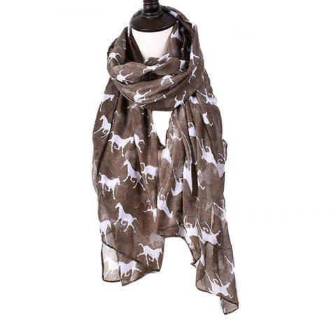 Unique Women Print Horse Scarves for Shirt Design Accessories