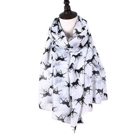 Fashion Women Print Horse Scarves for Shirt Design Accessories