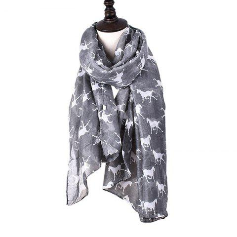 Hot Women Print Horse Scarves for Shirt Design Accessories