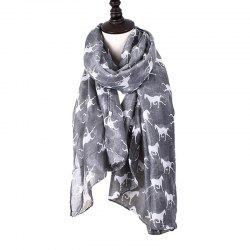 Women Print Horse Scarves for Shirt Design Accessories -