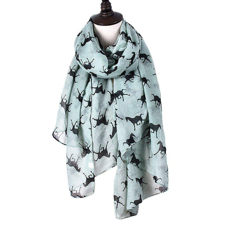 Shops Women Print Horse Scarves for Shirt Design Accessories
