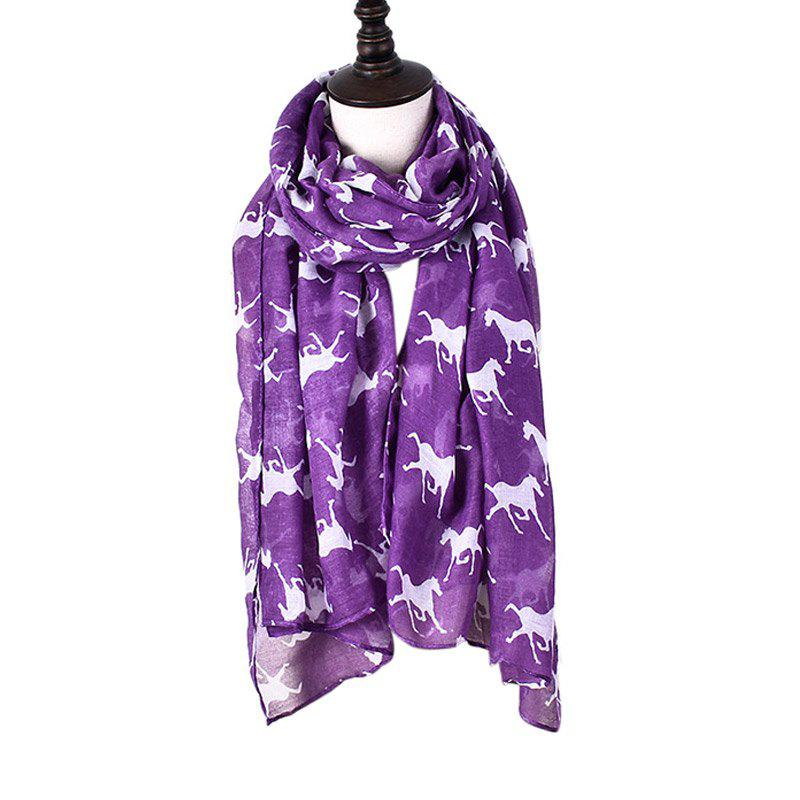 Outfits Women Print Horse Scarves for Shirt Design Accessories