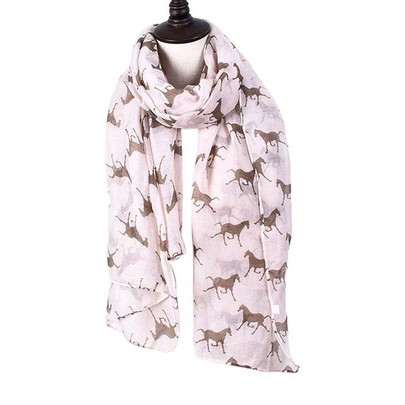 New Women Print Horse Scarves for Shirt Design Accessories