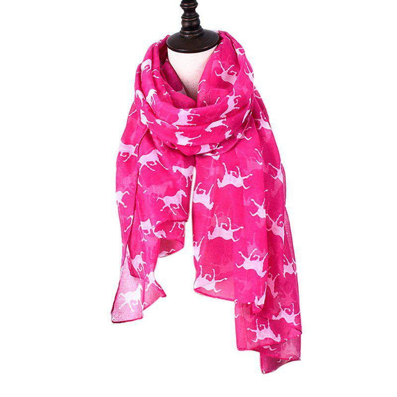 Buy Women Print Horse Scarves for Shirt Design Accessories