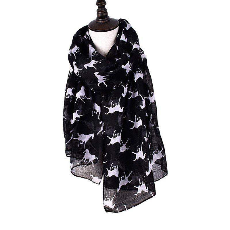 Chic Women Print Horse Scarves for Shirt Design Accessories