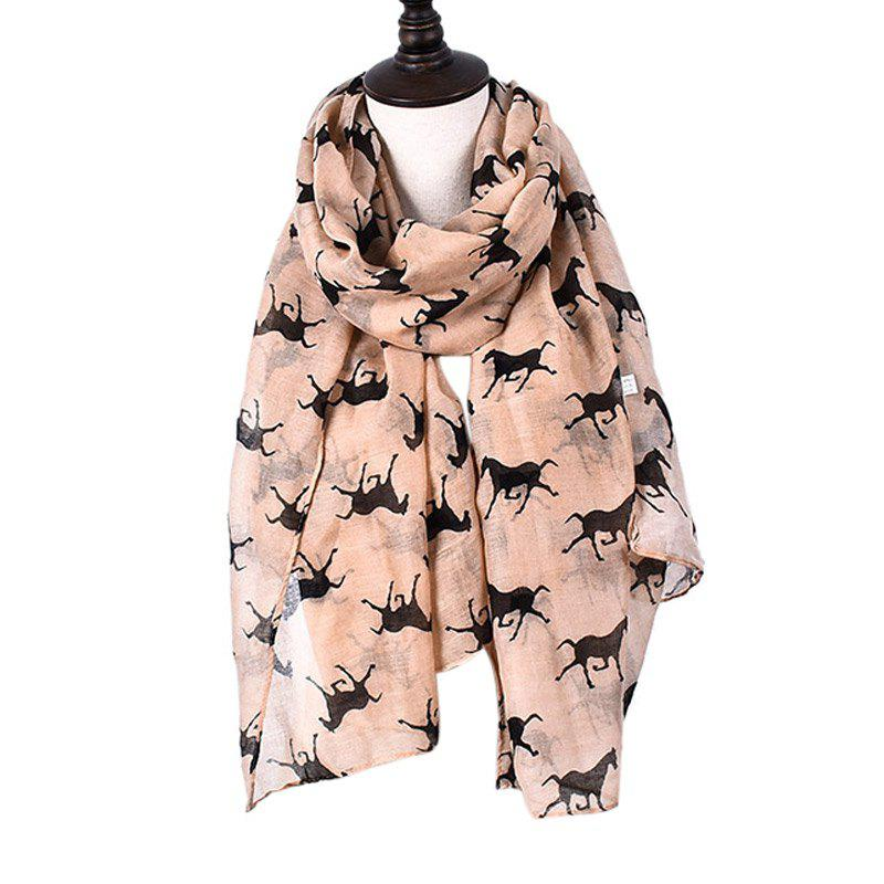 Outfit Women Print Horse Scarves for Shirt Design Accessories