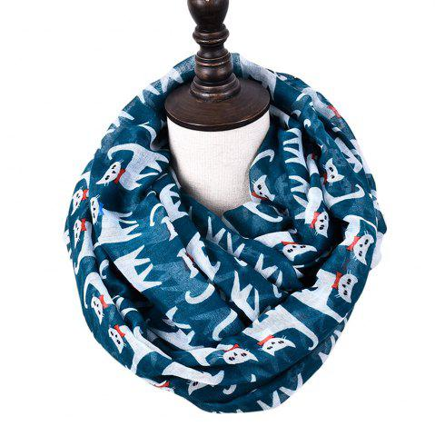Affordable Cartoon Print Candy Cat Viscose Scarf and Shawls