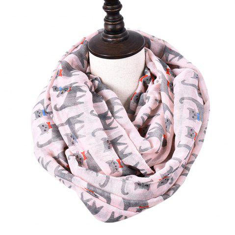 Cheap Cartoon Print Candy Cat Viscose Scarf and Shawls