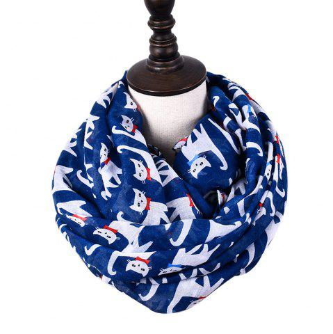Unique Cartoon Print Candy Cat Viscose Scarf and Shawls