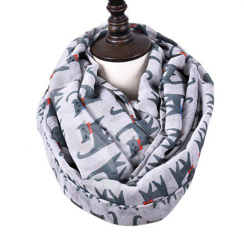 Fancy Cartoon Print Candy Cat Viscose Scarf and Shawls