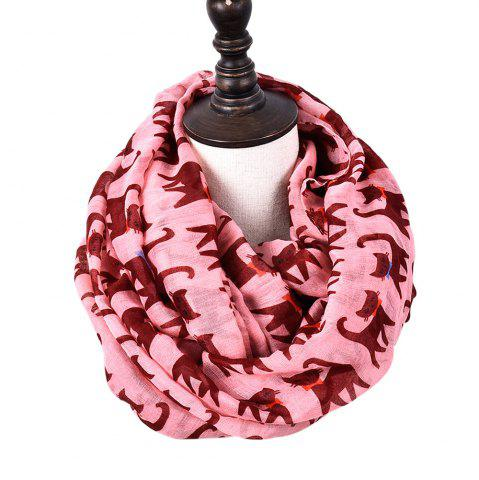 Online Cartoon Print Candy Cat Viscose Scarf and Shawls