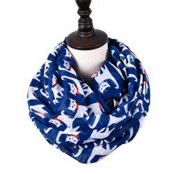 Cartoon Print Candy Cat Viscose Scarf and Shawls -