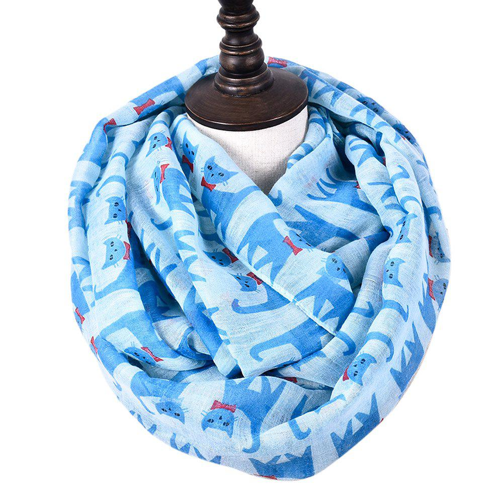 Outfits Cartoon Print Candy Cat Viscose Scarf and Shawls