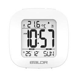 Digital Temperature Humidity Meter Wall Clock -