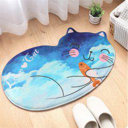 Creative Cartoon Cute Cat Bathroom Mat 50.0 x 80.0 cm -