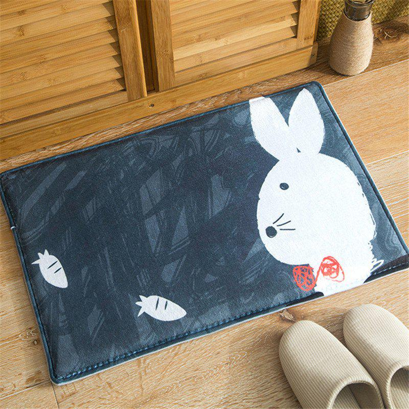 Chic Cartoon Cute Little Rabbit Flannel Bath Mat