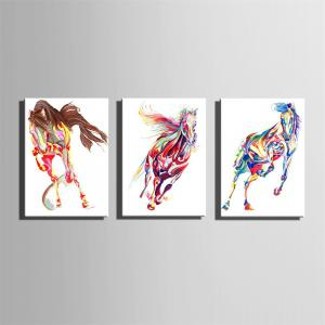 Special Design Frameless Paintings Horse Print 3PCS -
