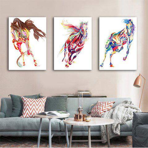 Sale Special Design Frameless Paintings Horse Print 3PCS