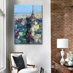 Special Design Frameless Paintings Paris City Print -